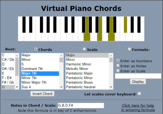 10 Free Online Piano Chord Generator