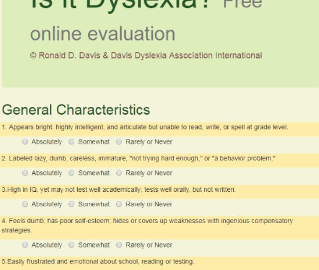 Is It Dyslexia