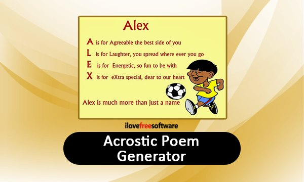 9 Acrostic Poem Generator Websites Free