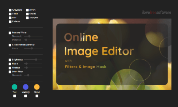 Free Online Image Editor with Advanced Filters, Image Mask