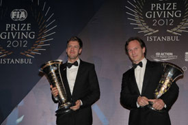 Vettel Horner FIA Awards
