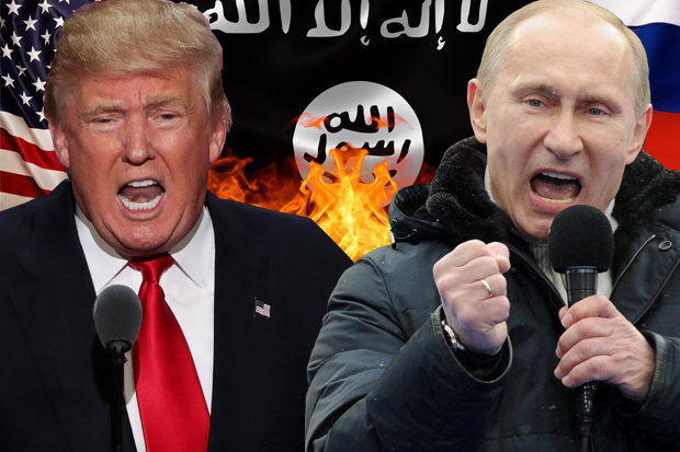 Image result for donald trump and vladimir putin take out isis