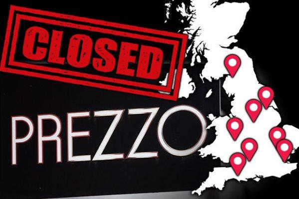Which Prezzo restaurants are closing? Major chain to SHUT ...