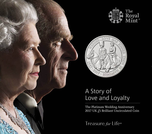 The Queen and Prince Philip's new coin