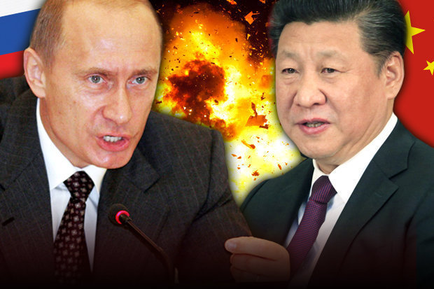 Vladimir Putin Xi Jinping War Graphic Alliance