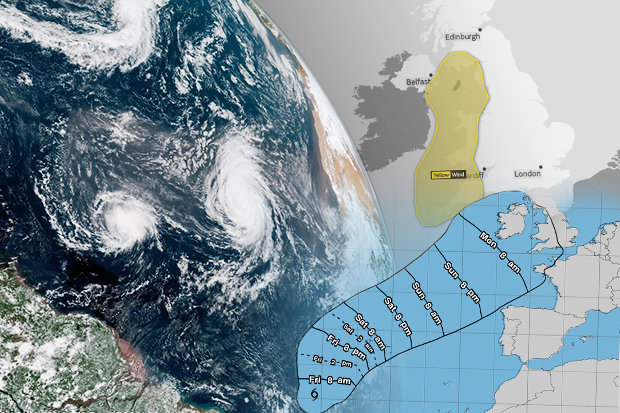 Wetterfootcast Großbritannien Sturm Helene