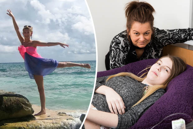 Chloe Brookes-Holder and her mother