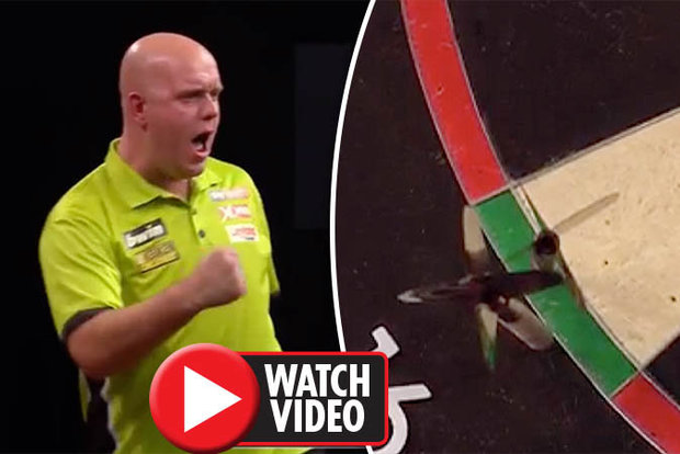 Michael Van Gerwen winning Grand Slam of Darts