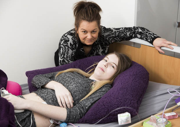 Chloe Brookes-Holder with her mother Sophie