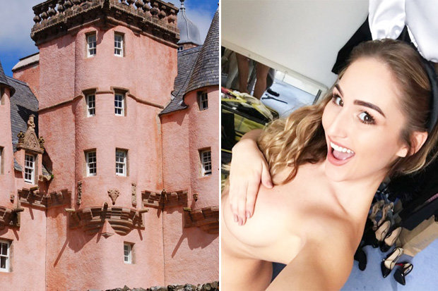 Rachelle Summers' naked photoshoot at Craigievar has caused controversy