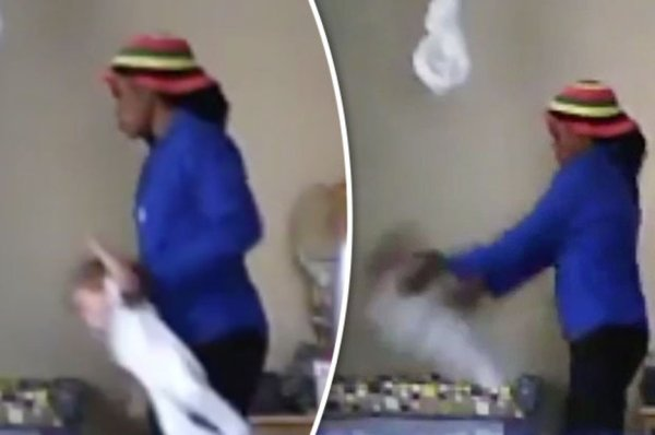 Hidden camera footage captured nanny THROWING baby 'like a ...
