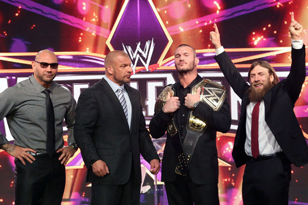 Batista at Wrestlemania 30 press conference