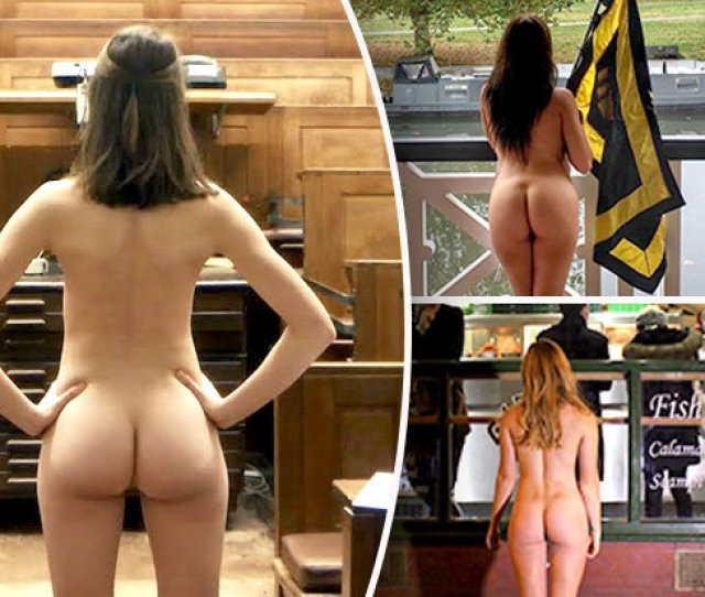 Rear Of The Year Toff Students Strip Naked For Best Bum Competition