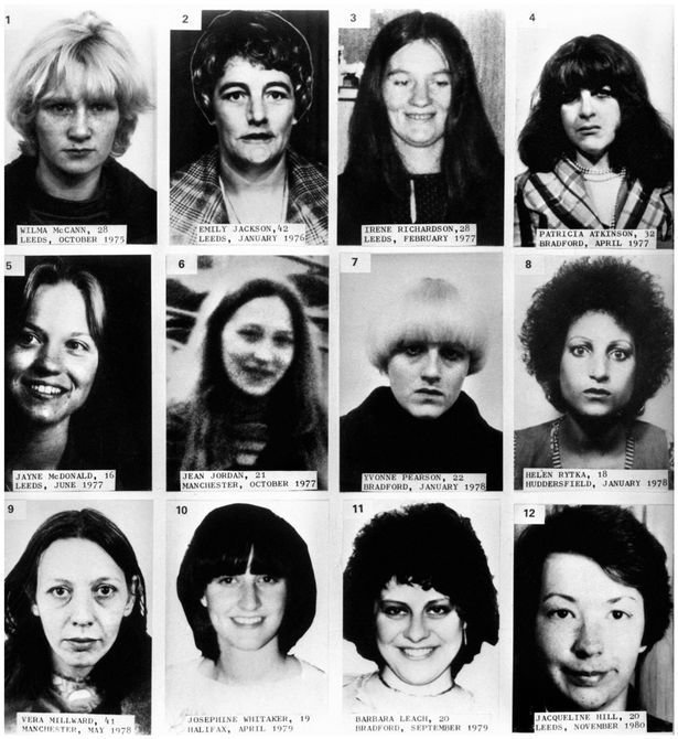 Serial killer peter sutcliffe aka Yorkshire Ripper murder victims