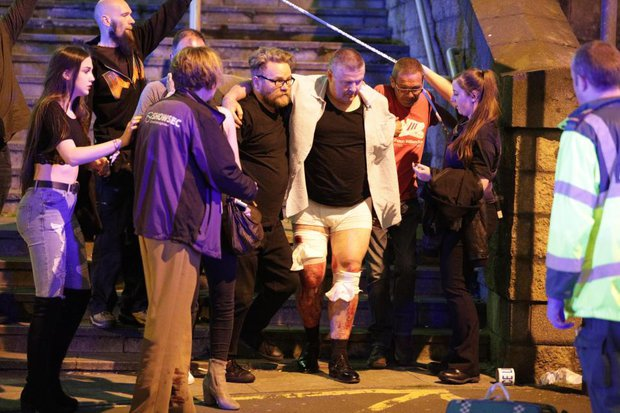 Image result for manchester terror attack bodies