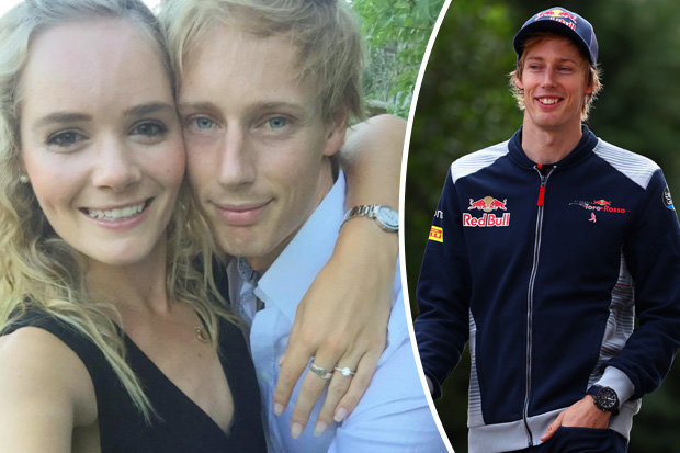 Brendon Hartley and Sarah Wilson engaged