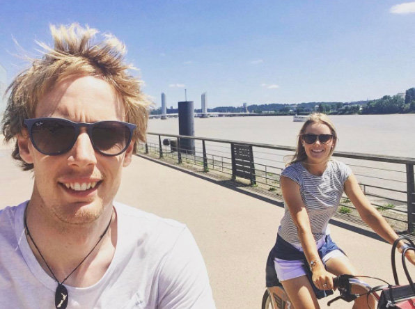 Hartley and Wilson enjoy long bike rides