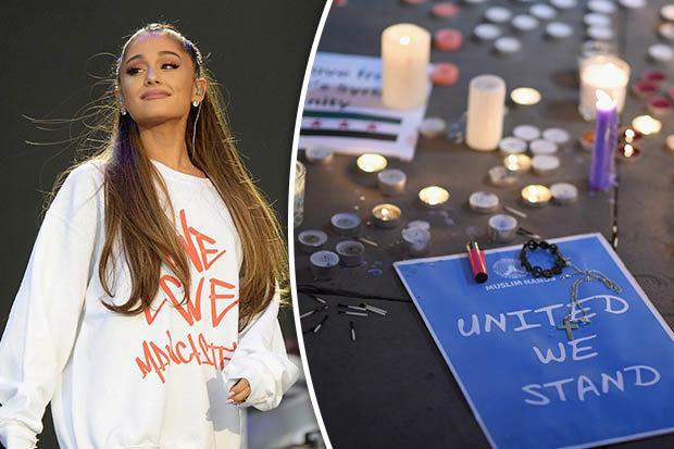 Ariana Grande 'United we stand' sign