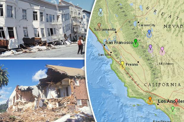 california earthquake swarm