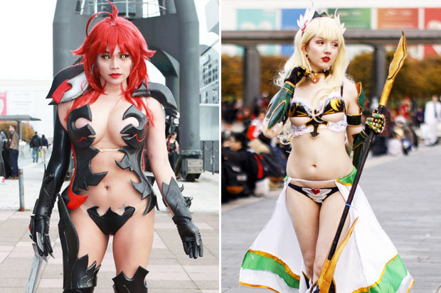 Cosplay babes descended on London