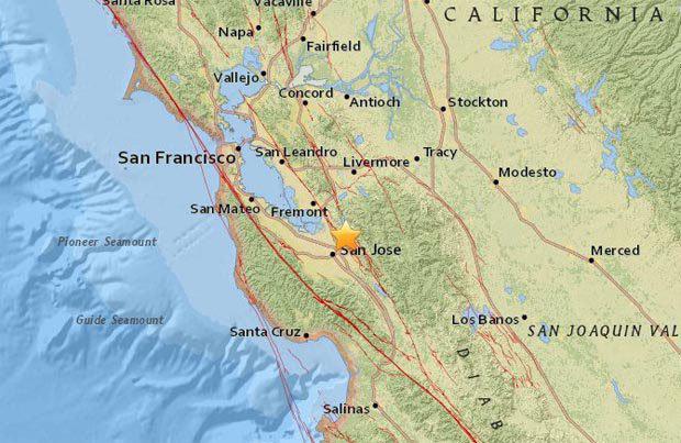 san jose earthquake