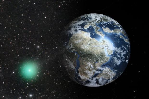 Hulk-Komet, um an der Erde vorbeizugehen