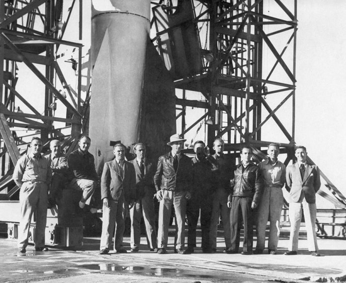Former Nazi scientists test launch a V2 rocket in the US, one year after the end of WW2