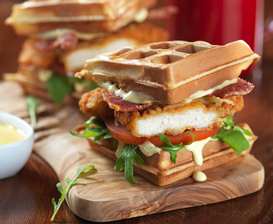 TGI Friday's Chicken waffle Burger