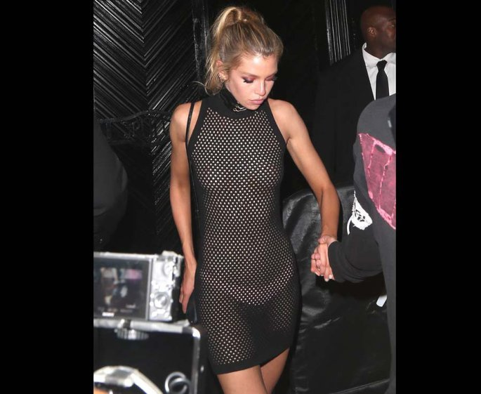 Stella Maxwell reveals everything in this sheer dress