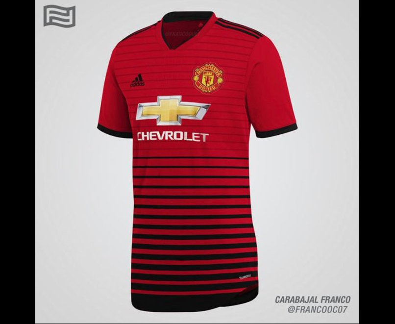 167aaba6e39 Manchester United 2018 19 Home Kit Leaked Is This The Real Shirt. Man U Away