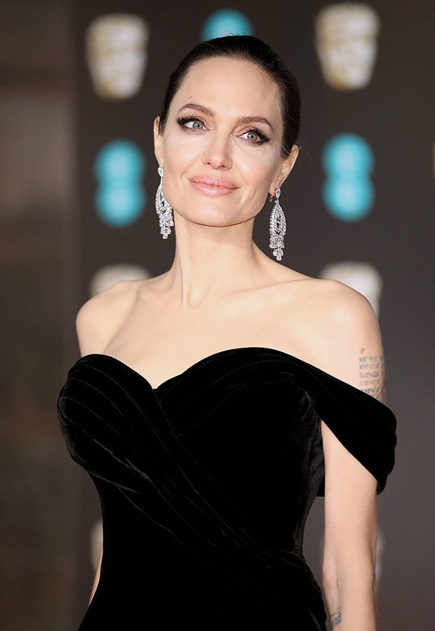 Angelina Jolie Diamond Earrings
