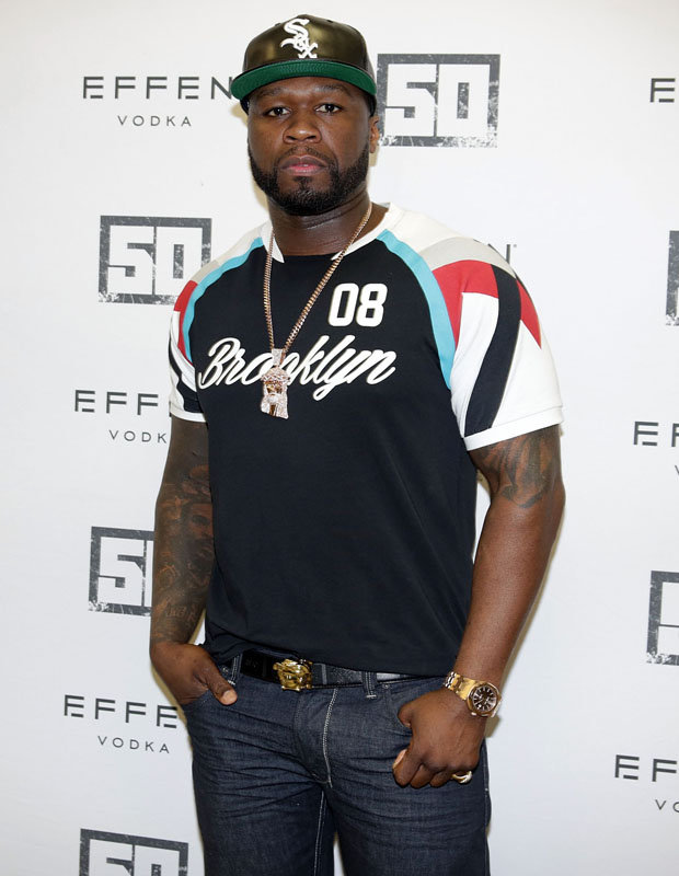 50 Cent at vodka signing