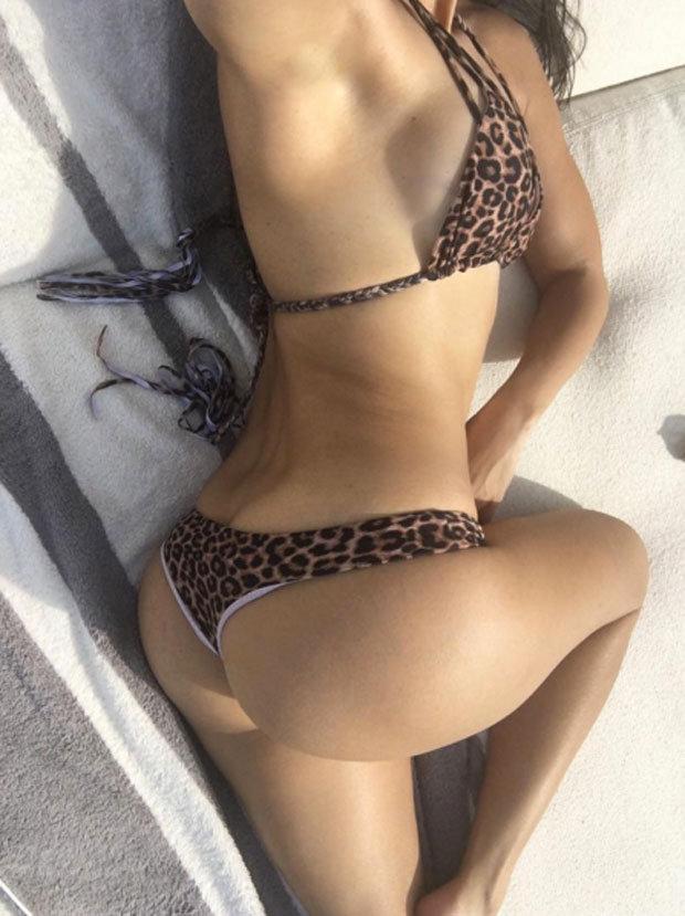 Kourtney Kardashian Shows Off Peachy Behind In Bikini Snap