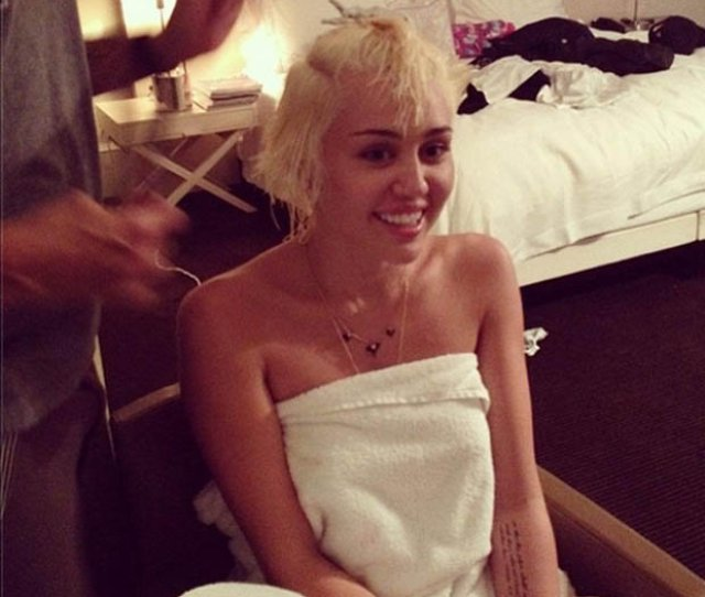 Miley Cyrus Miley Miley Cyrus Naked Miley Cyrus Hair Haircut Instagram