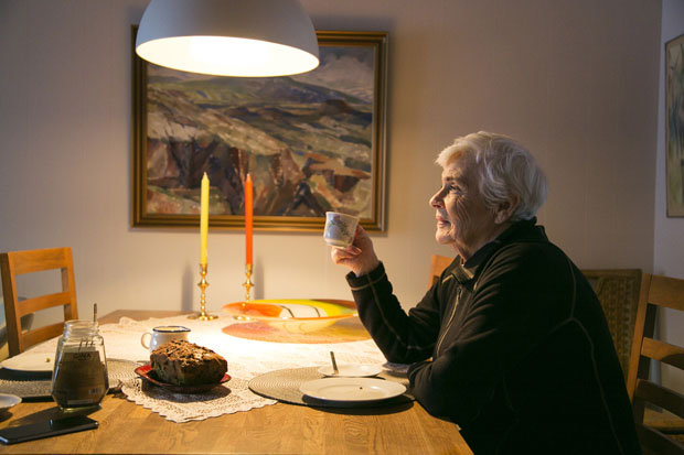 Asdis Karlsdottir at home