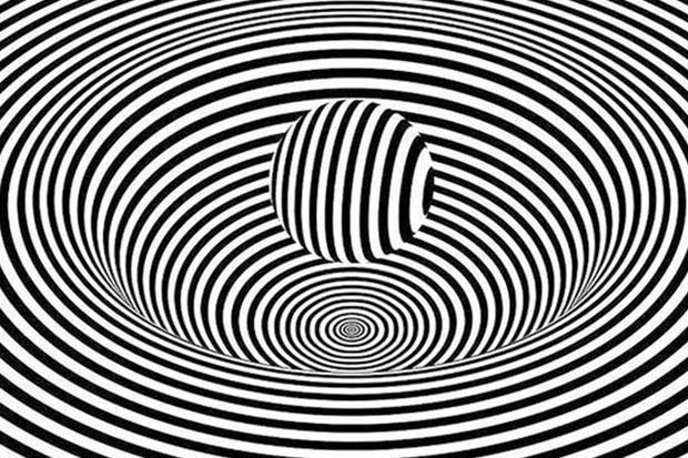 Optical illusion Something happens when you look at this