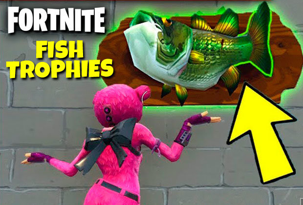 Fortnite FISH TROPHY Map Locations Where To Dance In Front Of Fishing Trophies Week 8 PS4