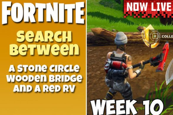 Search Between a Stone Circle  Wooden Bridge  Red RV Fortnite Week     Fortnite Stone Circle  Wooden Bridge  Red RV Week 10 Challenge Map Location  SOLVED
