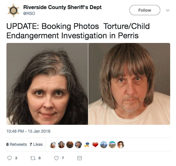 Perris Turpin Family Parents Arrested After 13 Children