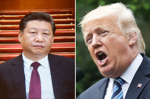 Donald Trump and Xi Jinping
