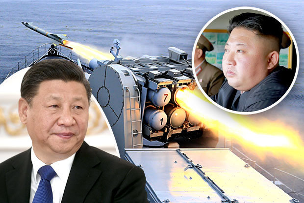 China's Xi Jinping has tested a missile in North Korea's Kim Jong-un's backyard