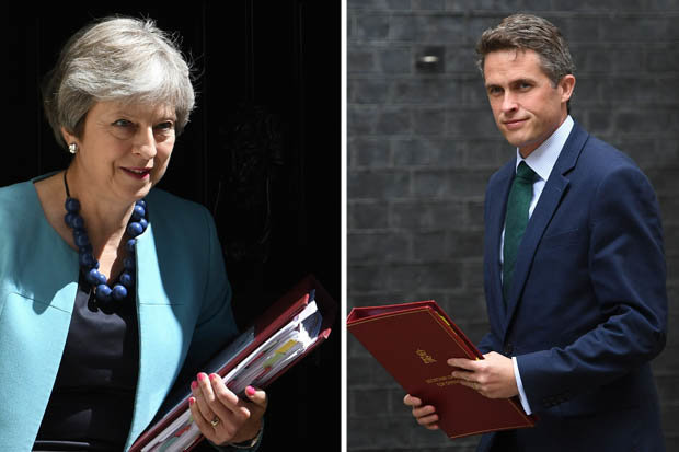 theresa may and gavin williamson