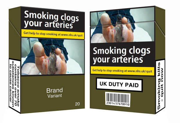 New cigarette packet design