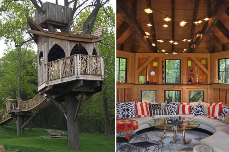 Designer Makes Luxury Treehouses Complete With Hot Tubs