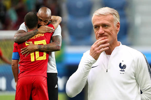Image result for Thierry Henry is an enemy – Deschamps