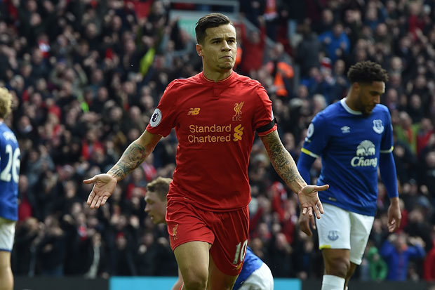 Image result for Philippe Coutinho 3-1 everton
