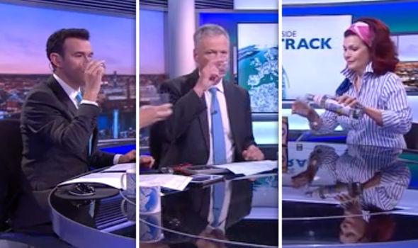BBC news: Bizarre moment BBC presenters swig tequila live ...