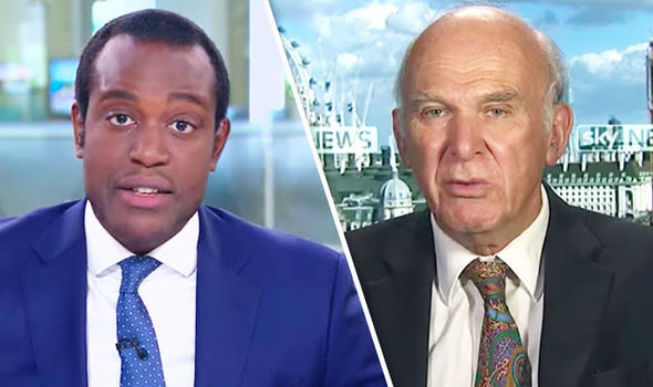 Sir Vince Cable and Gamal Fahnbulleh