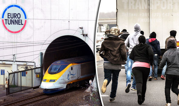 Immigrants Rush Chunnel