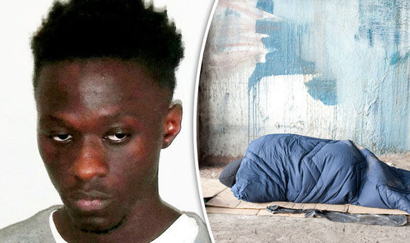 Homeless migrant